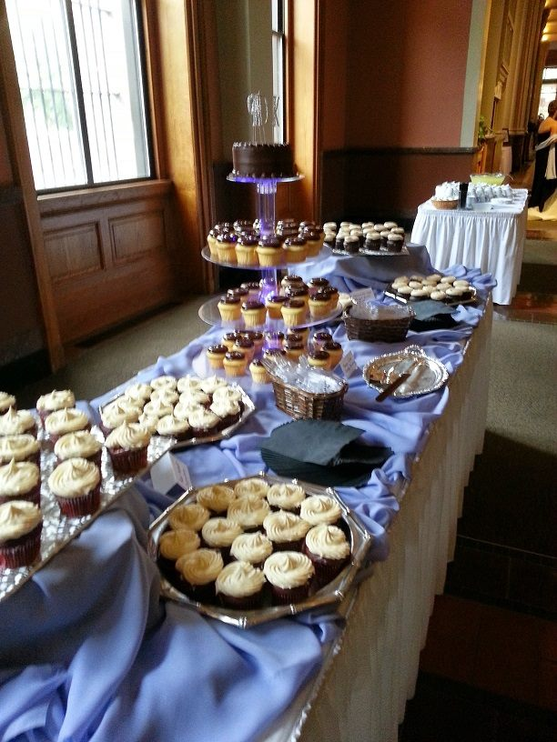 A delicious display of our catered desserts