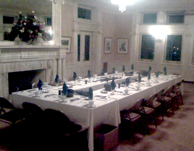 Sit-down dinner at James J. Hill House St. Paul, Minnesota